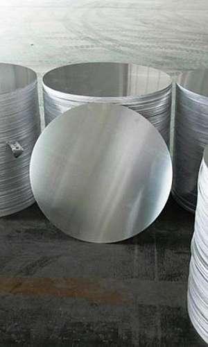 Chapa circular de alumínio