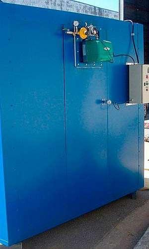 Estufa de secagem para pintura
