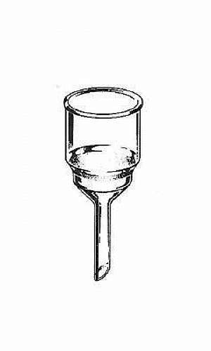 Funil de vidro para laboratório
